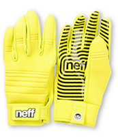 Neff Daily 2013 Tennis Yellow Pipe Snowboard Gloves