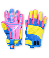 Neff Rover Blue, Pink & Yellow 2013 Pipe Snowboard Gloves