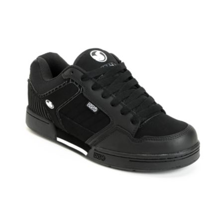 DVS Transom Black Nubuck Pin Stripe Skate Shoe