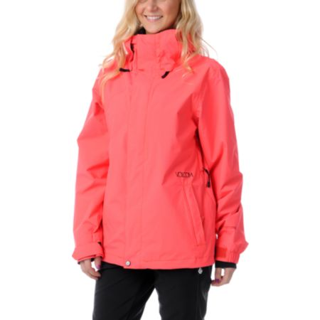 Volcom Girls Mellea 2013 Firecracker Red Snowboard Jacket