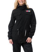Neff Girls Summit 2013 Black 10K Softshell Snowboard Jacket