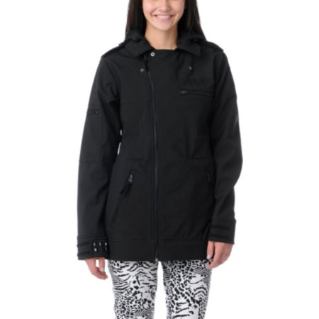 Neff Girls Dre 2013 Black 10K Softshell Snowboard Jacket
