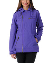 Neff Girls Dre 2013 Purple 10K Softshell Snowboard Jacket