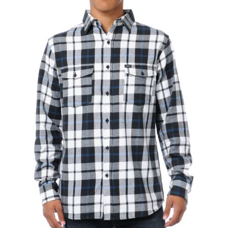 Matix Clientel Black & White Plaid Flannel Shirt