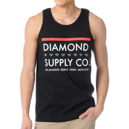 Diamond Supply Roots Black Tank Top