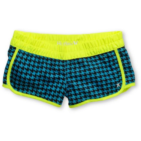 Hurley Girls Houndstooth Supersuede Retro Aqua Board Shorts