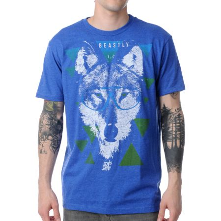 A-lab Beastly Heather Blue Tee Shirt