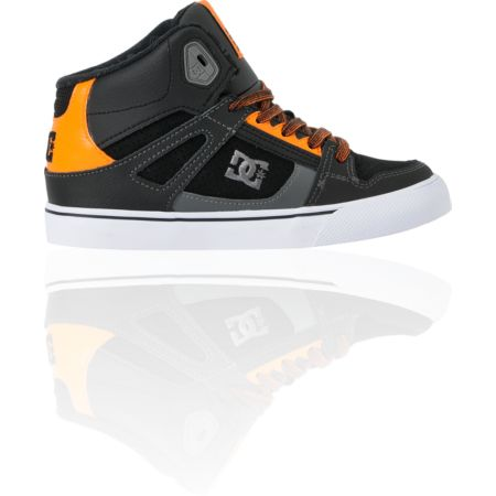 DC Boys Spartan Hi Pastrana Black & Orange Skate Shoe