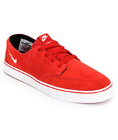 Nike Braata LR Gym Red & White Skate Shoe