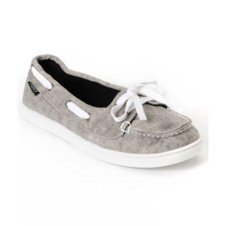 Roxy Ahoy White Grunge Twill Shoes
