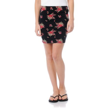 Obey Floral Tube Skirt