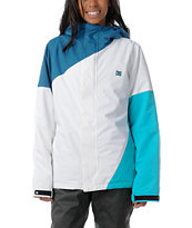 DC Girls Fuse 2013 Blue & White 5K Snowboard Jacket