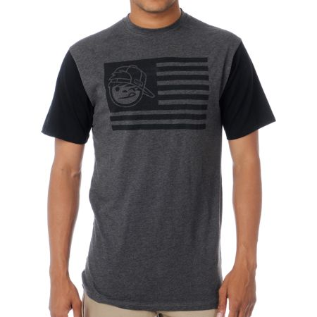Neff Patriot Heather Charcoal Tee Shirt