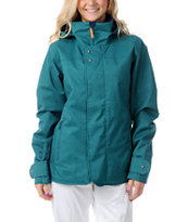 Burton Jet Set Spruce Green 10K Girls Snowboard Jacket