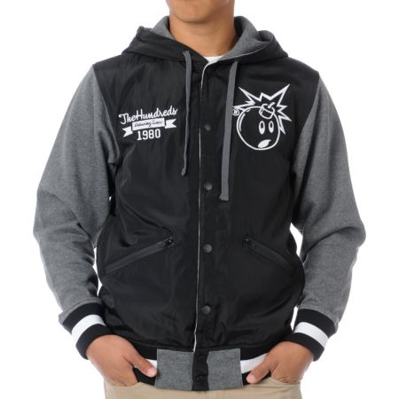 The Hundreds Unloaded Black & Heather Grey Jacket