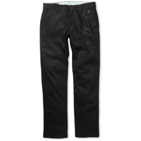 Volcom Vapato Slim Fit Black Chino Pants