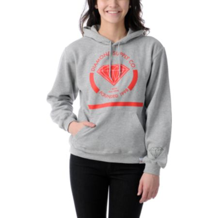 Diamond Supply Girls I Shine You Shine Heather Grey Pullover Hoodie