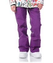 Volcom Girls Logic 2013 Purple 5K Snowboard Pants