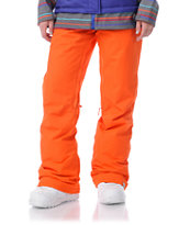 Roxy Evolution Bright Orange 8K Girls Snowboard Pants
