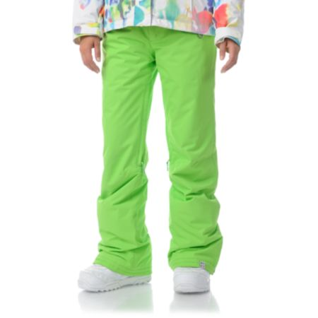 Roxy Evolution Wasabi Green 8K Girls Snowboard Pants