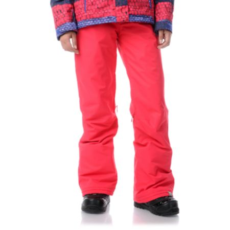 Roxy Evolution Raspberry Pink 8K Girls Snowboard Pants