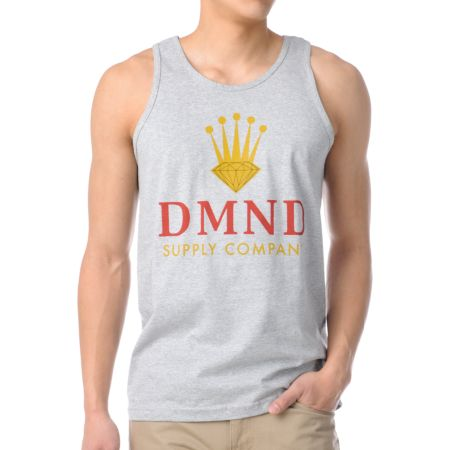 Diamond Supply DMND Crown Heather Grey Tank Top