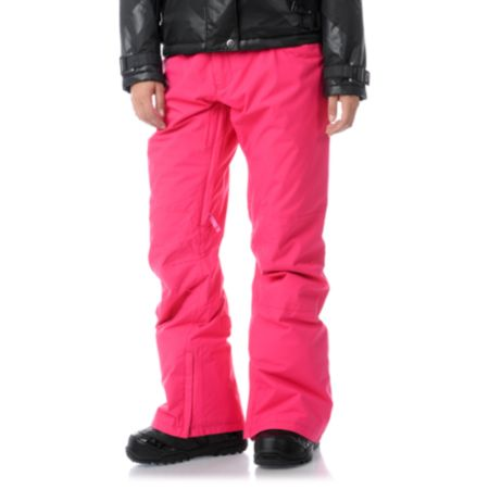 Burton Society 2013 Hot Pink 10K Girls Snowboard Pants