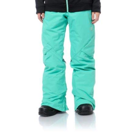 DC Girls Ace Slim 2013 Arcadia Green 5K Snowboard Pants
