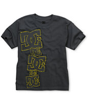 DC Boys Stacked Up Charcoal Tee Shirt