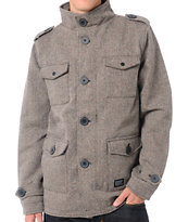 KR3W Manchester Brown Herringbone M-65 Jacket