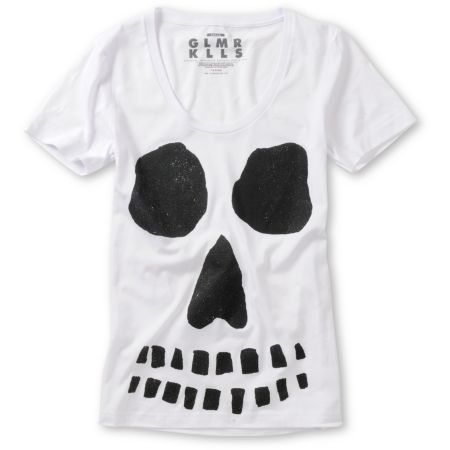 Glamour Kills Ghoulish Intentions White Tee Shirt