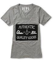 Glamour Kills High Society Grey Scoop Neck Tee Shirt