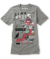 Glamour Kills Kazaam Heather Grey Crew Neck Tee Shirt