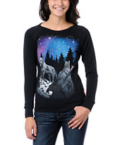 Glamour Kills Take To The Night Black Crew Neck Sweatshirt
