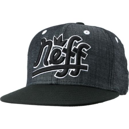 Neff Brooks Grey Chambray Snapback Hat