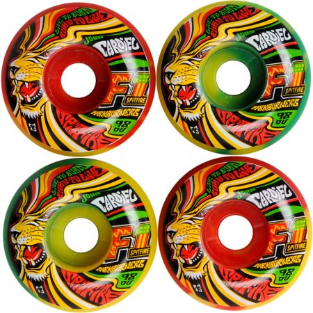 Spitfire Cardiel King Parkburner 53mm Rasta Skateboard Wheels