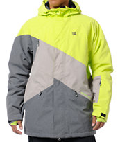 DC Wishbone Lime & Grey 15K Snowboard Jacket 2013