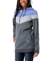 Neff Girls Triad Purple Tech Fleece Jacket Pullover Hoodie