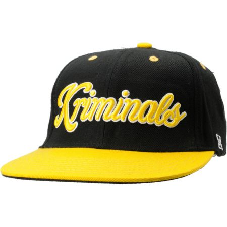 KR3W Kriminals Black & Yellow Snapback Hat