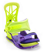 Union Contact Pro Purple & Green 2013 Snowboard Bindings