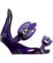 Burton Citizen Girls Purple Snowboard Bindings 2013