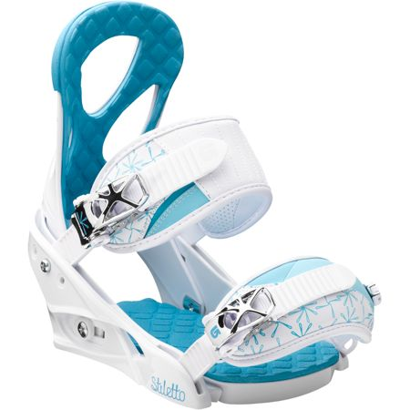 Burton Stiletto Girls White Snowboard Bindings 2013