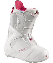 Burton Mint Girls White Snowboard Boots 2013