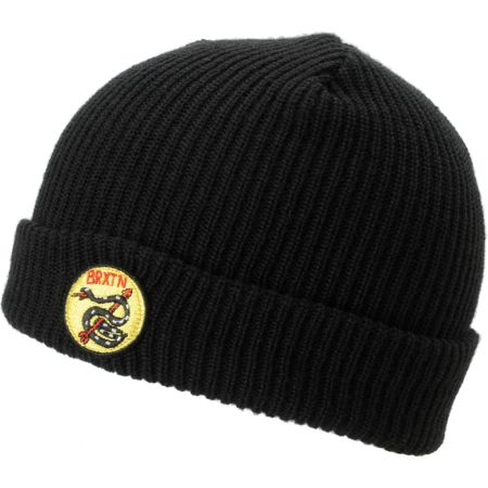 Brixton Scale Black Roll Up Beanie