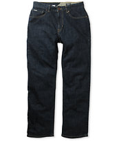 Volcom Black Bart Dark Blue Regular Fit Jeans