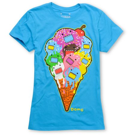 Domo Melted Girls Aqua Tee Shirt