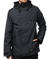 686 M-65 Black Twill Denim 10K Snowboard Jacket