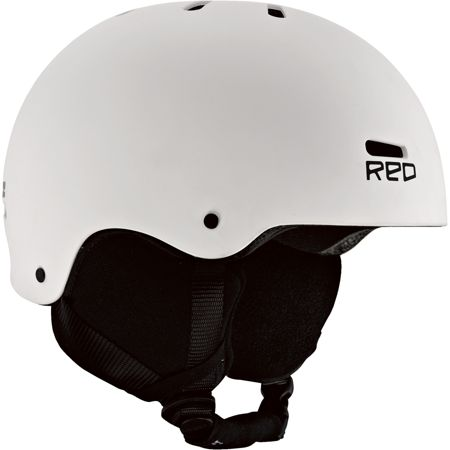 RED Trace Audio Classic White 2013 Snowboard Helmet