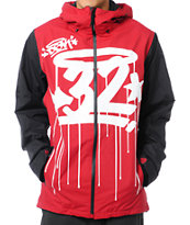 Thirtytwo x DGK Shiloh 2 10K Red Snowboard Jacket 2013