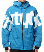 Thirtytwo Lowdown 2 Blue 10K Snowboard Jacket 2013